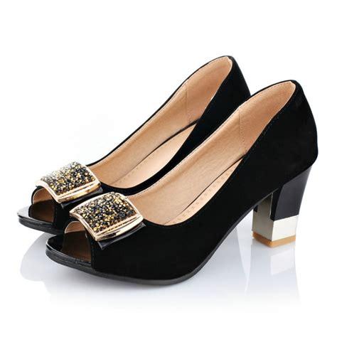 Sepatu Sandal Platform Heels Chunky Size 43 big size 34 43 fashion thick med heels platform pumps