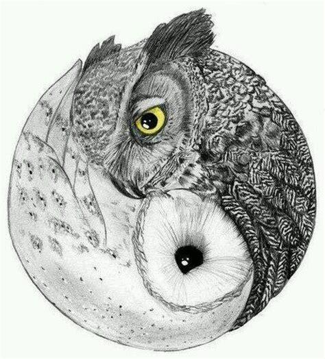 owl ying yang tattoos pinterest yin yang tatuajes