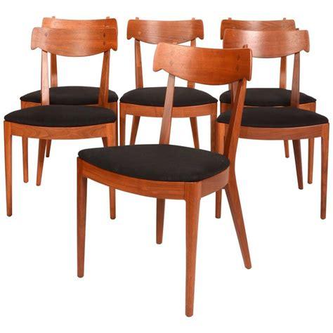drexel dining room furniture set of six kipp stewart for drexel walnut declaration