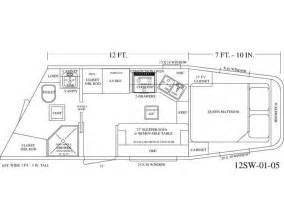 Horse Trailer Floor Plans by Living Quarter Horse Trailer 12 Short Wall Floor Plan