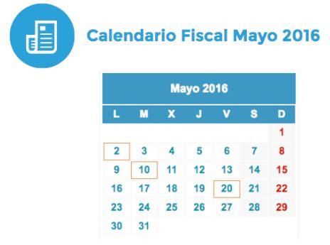 Calendario Tributario 2017 Sat Calendario Fiscal Mayo 2016 Rankia