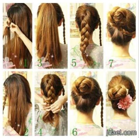 cool easy step hairstyles تسريحات شعر البنات للمدرسه بجميع المراحل الدراسيه منتدى