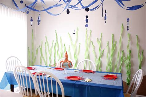 ocean decorations for home under the sea theme party ideas just a mum