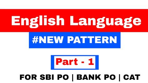 English Pattern For Bank Po   english problems on new pattern for sbi po bank po part
