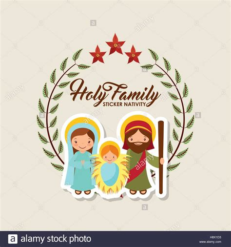 Sticker Happy Family Mobil Ignis holy family manger sticker nativity merry colorful stock vector