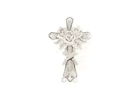 tattoos of roses and crosses cross with flowers free designs roses on the