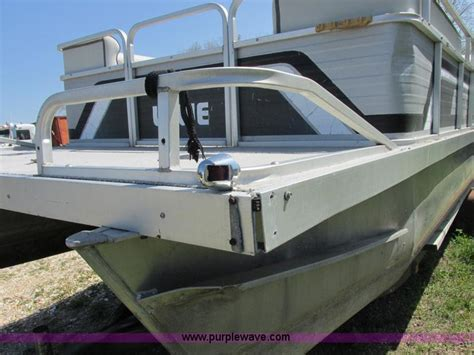 lowes boat bumpers 1987 lowe classic pontoon boat no reserve auction on