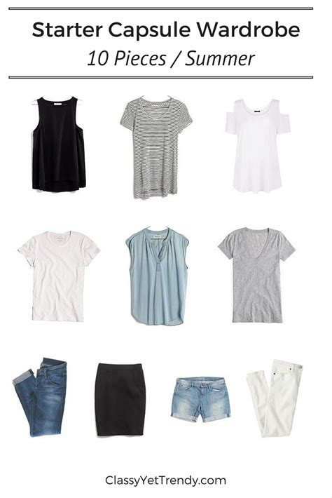 1000 images about capsule wardrobe on pinterest starter capsule wardrobe 10 pieces summer classy yet