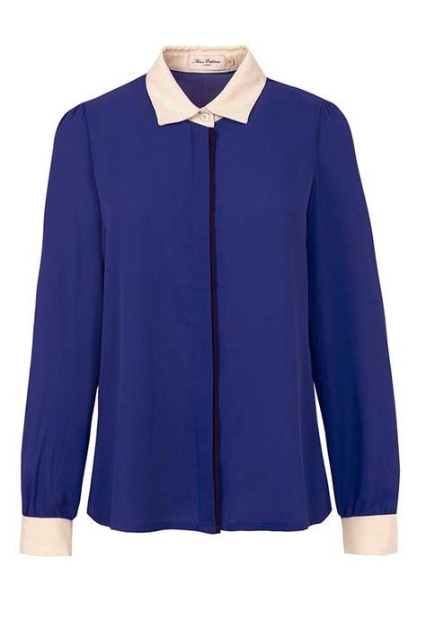 Blouse Blue blouse blue fashion ql