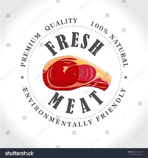 fresh meat butcher shop stamp vector stock vector