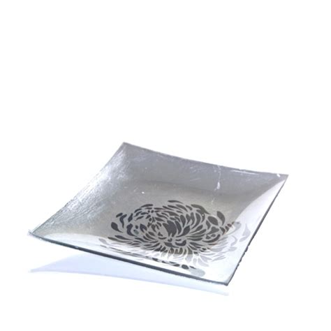 Small Candle Plate Square Candle Plate Small