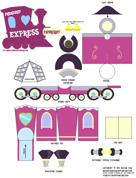 Paper Craft Pdf - friendship express papercraft by rocketmantan on deviantart