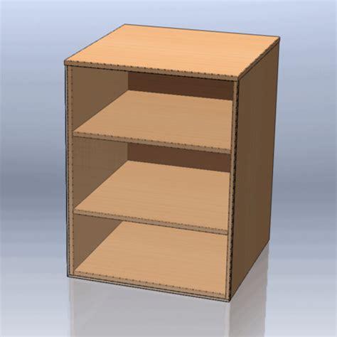 cabinet template cabinet template stl solidworks 3d cad model grabcad