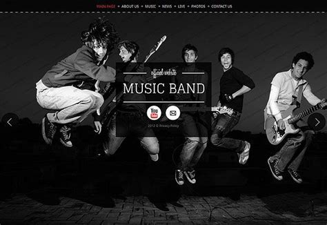 Band Templates by Band Website Template New Web Templates For You To