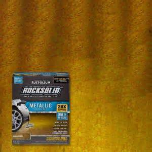 Rust Oleum RockSolid 70 oz. Metallic Burnished Gold Garage