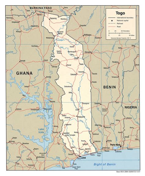political map of togo detailed political map of togo with highways and cities