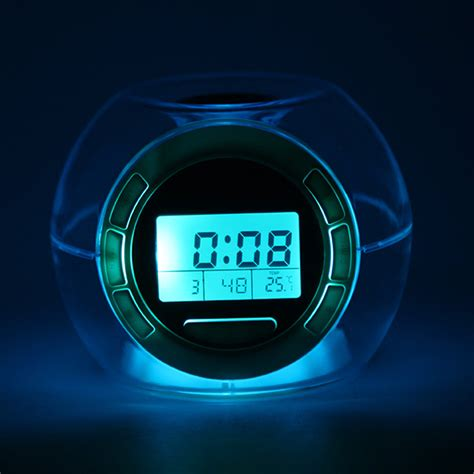 Apple Nature Sound Color Change Clock color changing clock led light with nature sounds multifunctional alarm clocks