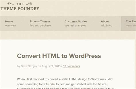 wordpress themes to html convert how to convert html to wordpress 3 tools resources wp