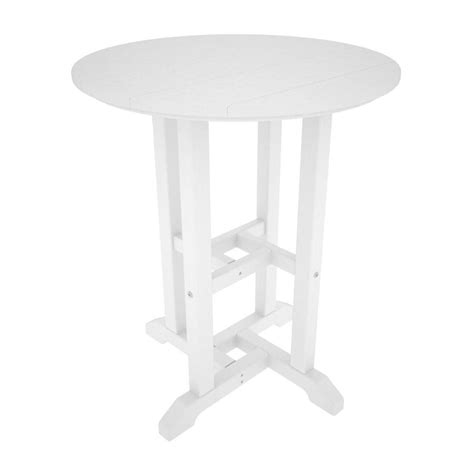White Plastic Patio Table Shop Polywood Recycled Plastic Top White Patio Dining Table At Lowes