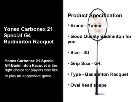 Raket Badminton Yonex Carbonex 21 yonex carbonex 21 special g4 badminton racquet