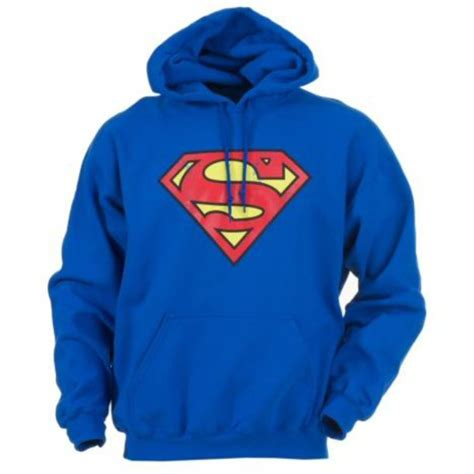 Hoodie Superman Blue jacket hoodie superman blue yellow wheretoget