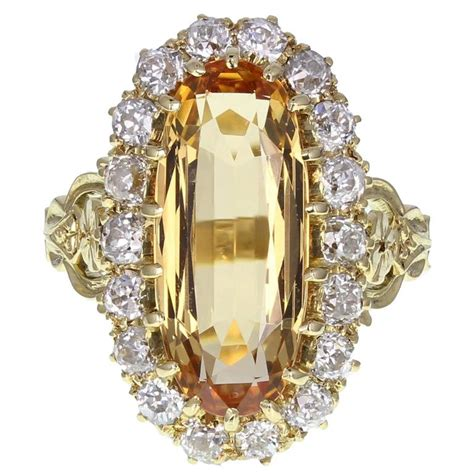 antique imperial topaz cocktail ring at 1stdibs