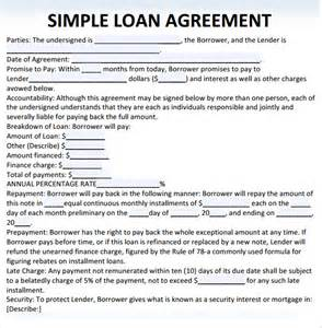 loan templates free sle loan agreement 10 free documents in pdf word