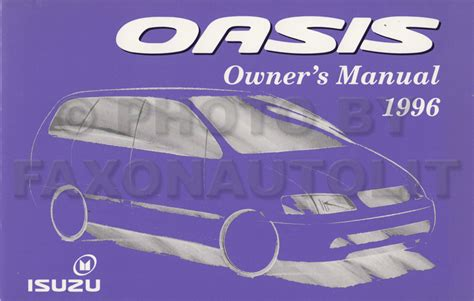 all car manuals free 1996 isuzu oasis user handbook 1996 isuzu lv owner s manual original reference book rodeo trooper oasis hombre