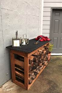firewood rack sted patio