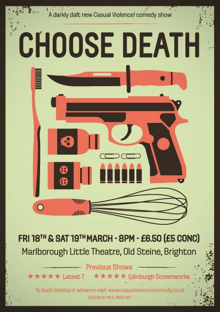 flyer design edinburgh choose death on behance