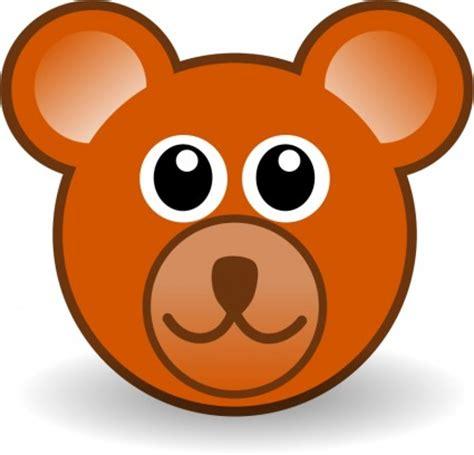 lucu boneka beruang menghadapi coklat vektor clip vektor gratis gratis