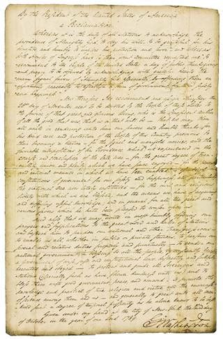 Sle Of Thanksgiving Speech george washington s 1789 thanksgiving proclamation for
