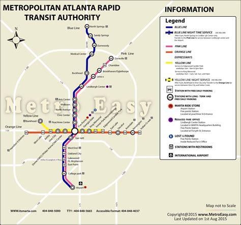 marta map atlanta marta metropolitan atlanta rapid transit authority