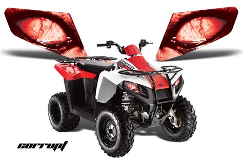 Light Depot Polaris Trail Boss Head Light Eye Graphics For Trail Boss