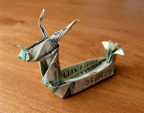 Money Origami Boat - boat money origami dragonboating