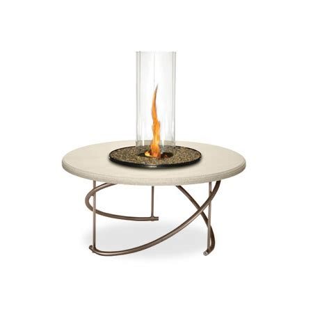 Homecrest Cirque Lp Burner Fire Pit W Glass Cylinder Firepit Burner