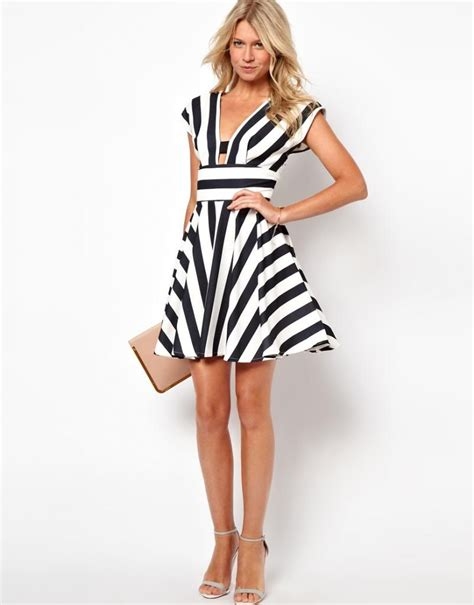Dress Black White Stripes black and white striped dresses dress ty
