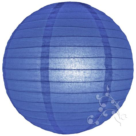Lantern With Paper - 8 inch small royal blue paper lanterns hanging