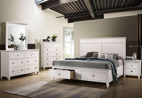 lifestyles shutter white king headboard storage footboard