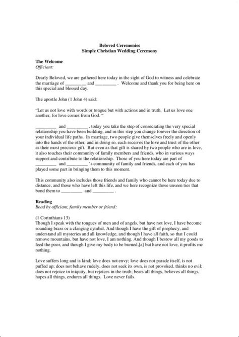 christian wedding ceremony template what to include in your wedding program