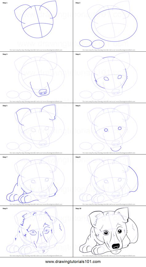 how to draw a german shepherd how to draw german shepherd puppy printable step by step drawing sheet