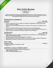 Hairdresser Resume Exles by Hair Stylist Resume Search Results Calendar 2015