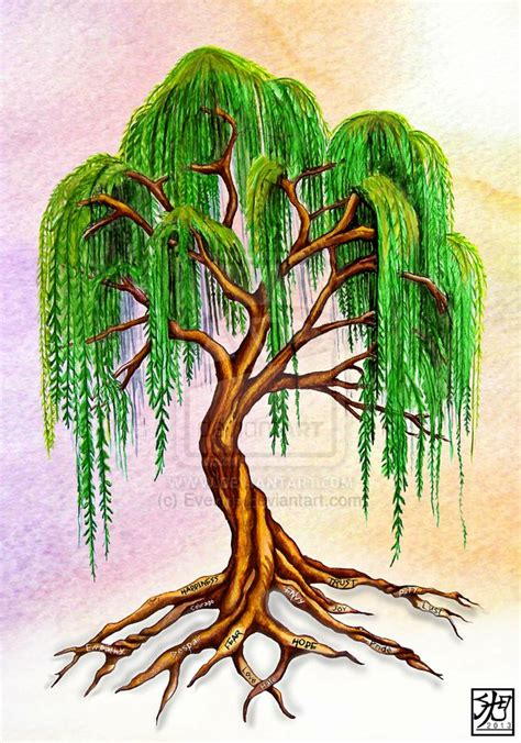 willow tree tattoo drawing weeping willow tree