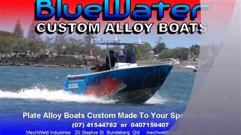 bluewater custom boats bluewater custom alloy 5 5m centre console youtube