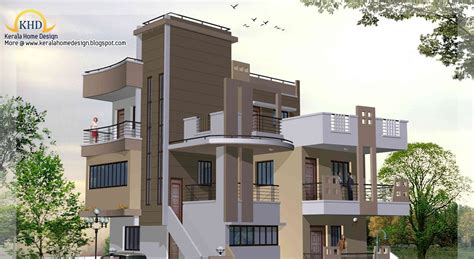 3 Story House Plan And Elevation 2670 Sq Ft Kerala | 3 story house plan and elevation 2670 sq ft home