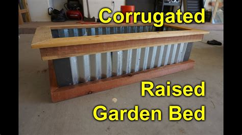 corrugated raised garden bed diy easy build project