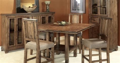 solid wood counter height table and chairs bradley s furniture etc utah rustic furniture and