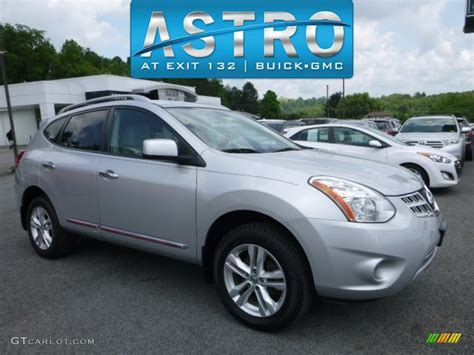 2013 silver nissan rogue 2013 brilliant silver nissan rogue sv awd 113940689 photo