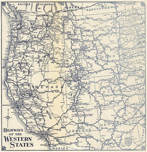highway map of western united states the lost u s highways of southern california history kcet
