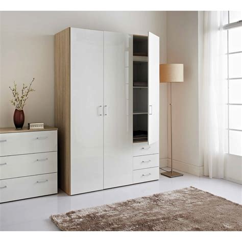 bedroom sets with wardrobe norvik 3 door wardrobe bedroom furniture b m
